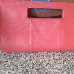 Coral Charming Charlies Envelope Clutch